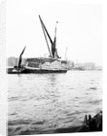 Topsail barge on the Thames with its top mast lowered, London by Anonymous