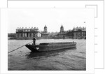 Wooden lighter and topsail barges on the Thames at Greenwich, London by Anonymous