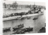 Ship and boats on the River Thames, London by Anonymous