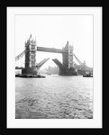 Tower Bridge with bascules open, London by Anonymous