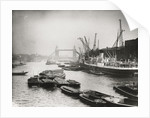 View of the busy Thames looking towards Tower Bridge, London by Anonymous