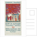 Kew in Autumn, London County Council (LCC) Tramways poster by Leslie Porter