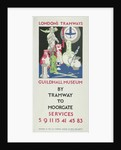 Guildhall Museum by Tramway to Moorgate, London County Council (LCC) Tramways poster by JF