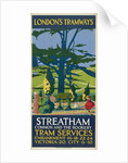 Streatham Common and the Rookery, London County Council (LCC) Tramways poster by Tony Castle