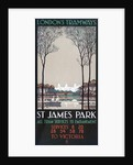 St James' Park, London County Council (LCC) Tramways poster by Ralph & Brown Studios