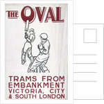 The Oval, London County Council (LCC) Tramways poster by Anonymous