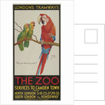 The Zoo, London County Council (LCC) Tramways poster by Clarence Lawson Wood