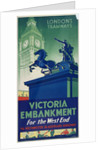Victoria Embankment, London County Council (LCC) Tramways poster by
