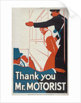 Thank You Mr Motorist, London County Council (LCC) Tramways poster by JS Anderson