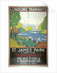 St James' Park, London County Council (LCC) Tramways poster by W Langlands
