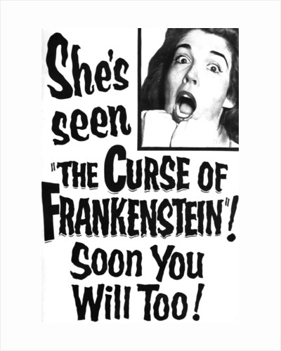 The Curse of Frankenstein Advert by Anonymous