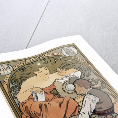 Poster for the Societe Populaire des Beaux Arts by Alphonse Mucha