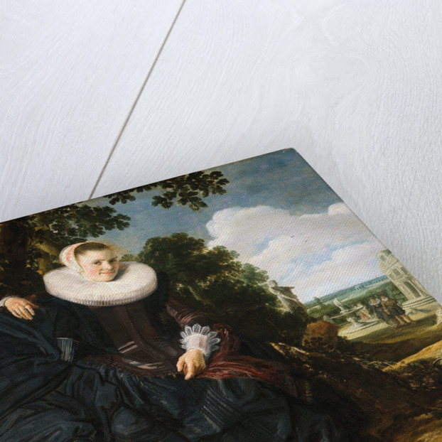Marriage portrait of Isaac Abrahamsz Massa and Beatrix van der Laen by Frans Hals