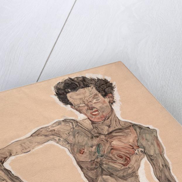 Self-Portrait Grimacing Egon Schiele österreichischer Maler Grimasse B A2 01616