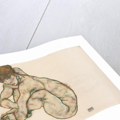Crouching Nude Girl, 1914 by Egon Schiele