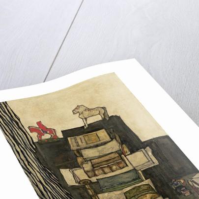 Still Life with Books (Schieles Desk), 1914 by Egon Schiele