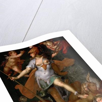 Minerva Victorious over Ignorance, ca 1591 by Bartholomeus Spranger