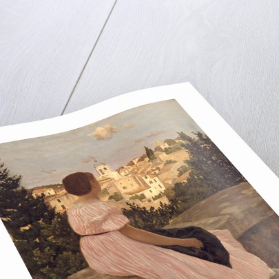 The Pink Dress (La Robe Rose), 1864 by Frédéric Bazille