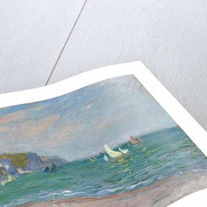 Bateaux devant les falaises de Pourville, 1882 by Claude Monet