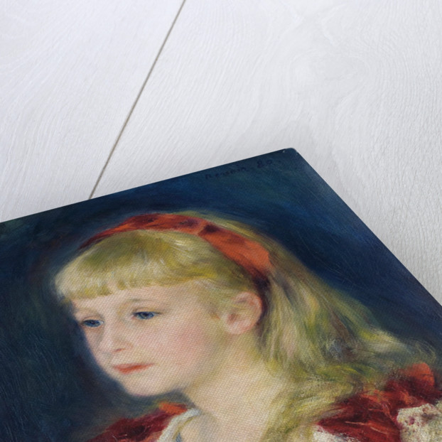Mademoiselle Grimprel au ruban rouge by Pierre-Auguste Renoir