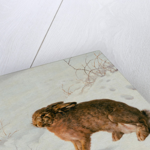 Hare in the Snow by Louis Ferdinand von Rayski