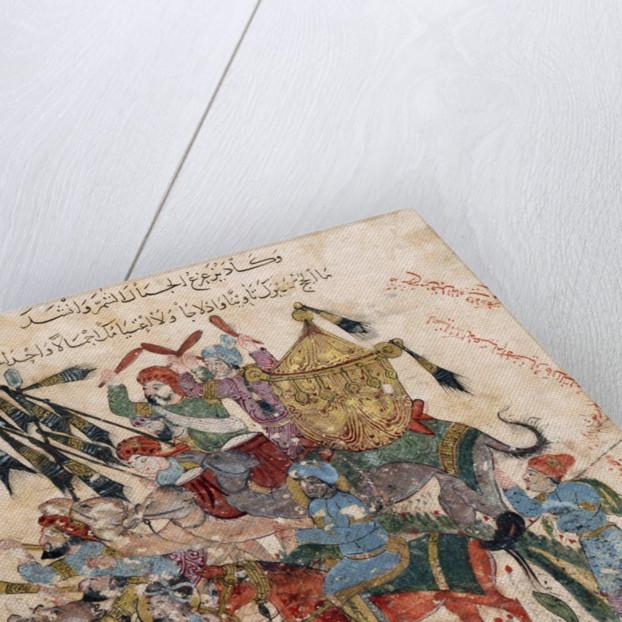 Caravan of pilgrims in Ramleh (from a manuscript of Maqâmât of al-Harîrî) by Yahya ibn Mahmud Al-Wasit