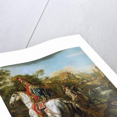 Equestrian Portrait of a Hussar Officer, 1773 by Bernardo Bellotto