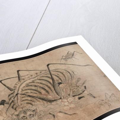 Yorimitsu killing Tsuchigumo (Detail of the scroll Tsuchigumo no Soshi Emaki), 13th century by Anonymous