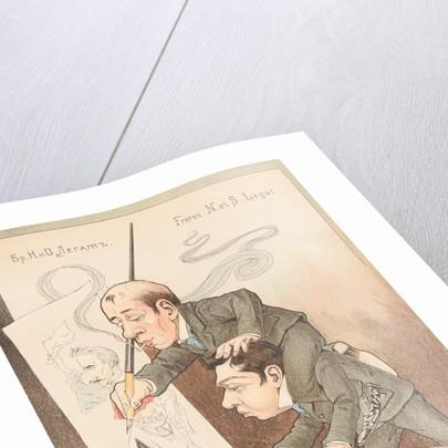 Self Caricature by Nikolai Gustavovich Legat