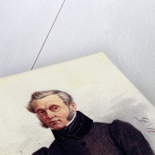Portrait of Decembrist Ivan Povalo-Shveikovsky, 1839 by Nikolai Alexandrovich Bestuzhev