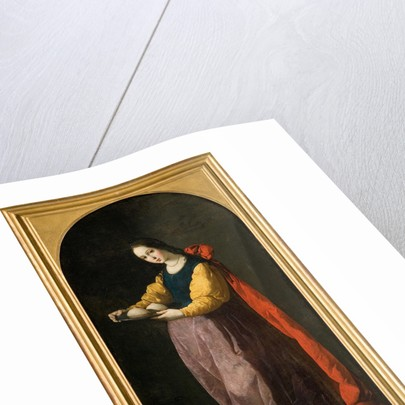 Saint Agatha, Between 1630 and 1635 by Francisco de Zurbarán
