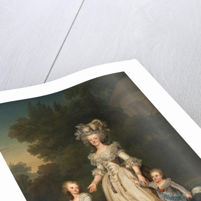 Queen Marie Antoinette of France and two of her Children Walking in The Park of Trianon, 1785 by Adolf Ulrik Wertmüller