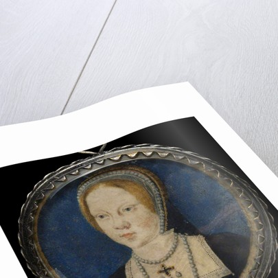 Portrait of Mary I of England, ca 1521-1525 by Lucas Horenbout