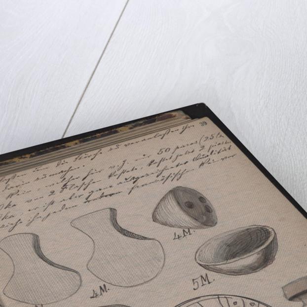 The Schliemanns diary contains sketches of discoveries, 1873 by Heinrich Schliemann