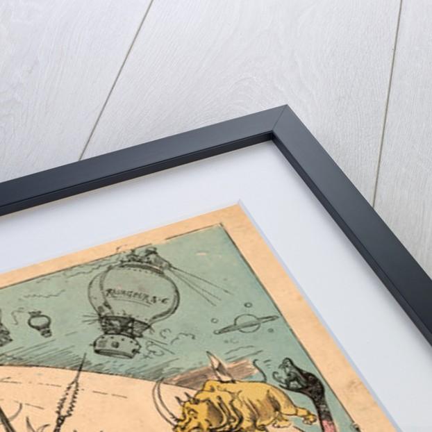 Carte des voyages très extraordinaires de Saturnin Farandoul by Albert Robida