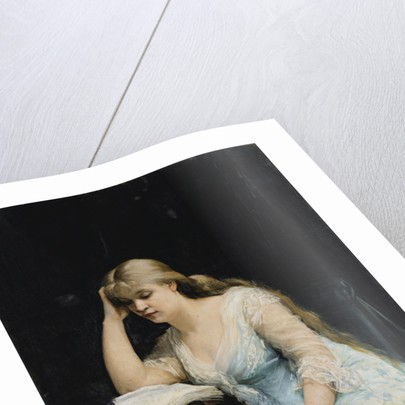 Young Woman Reading by Maria Konstantinovna Bashkirtseva