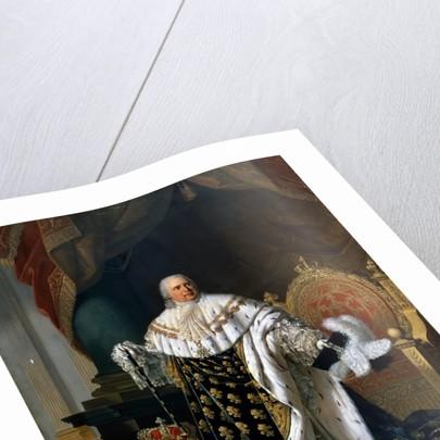 Portrait of Louis XVIII in coronation robes by Robert Lefévre