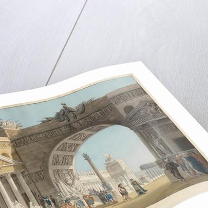 Stage design for the opera Palmira, regina di Persia by Antonio Salieri by Anton Radl