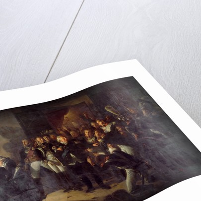 Louis XVIII left the Tuileries on the Night of March 20, 1815 by Baron Antoine Jean Gros