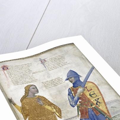 Prudence and Justice (From Regia Carmina by Convenevole da Prato) by Pacino di Buonaguida