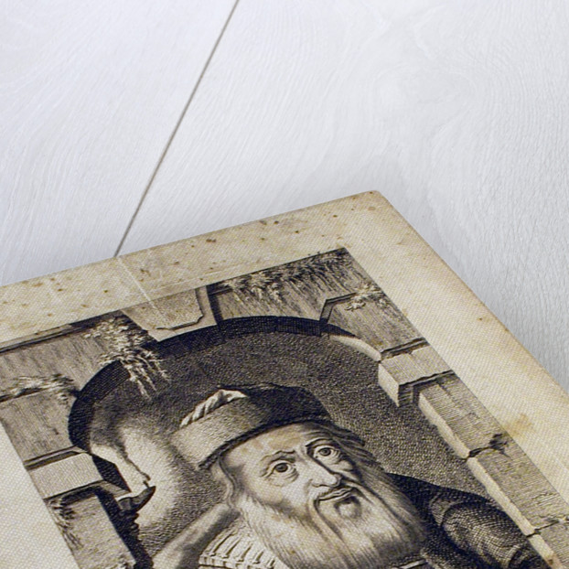 Portrait of David Oppenheim, chief rabbi of Prague by Johann Balzer
