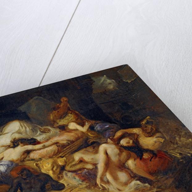 Death of Sardanapalus (Studiy) by Eugène Delacroix