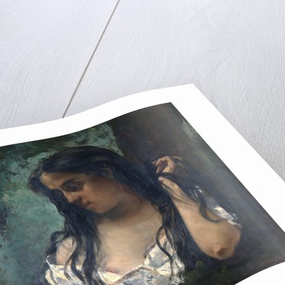 Gypsy in Reflection by Gustave Courbet