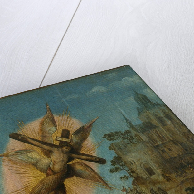 Triptych of the Baptism of Christ (Detail) by Master of Frankfurt