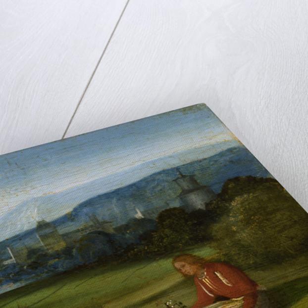Idyllic pastoral landscape, Late 15th cen by Giorgione