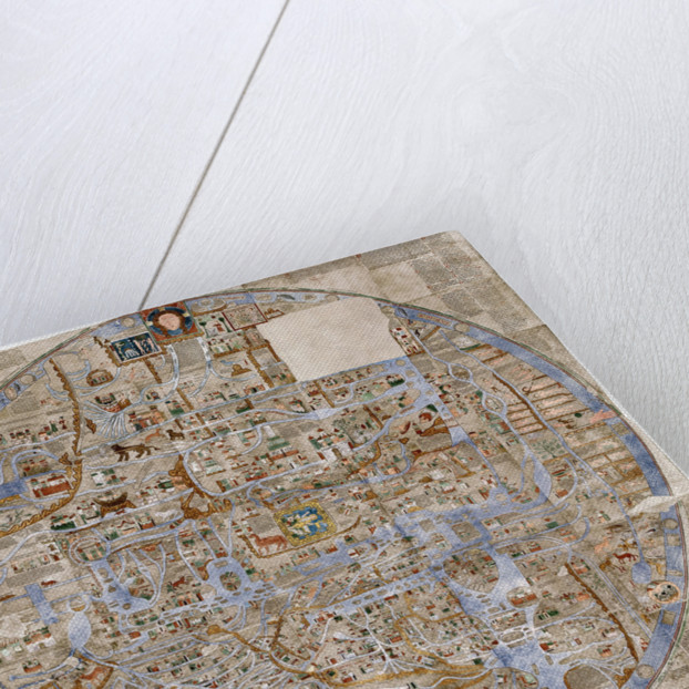 The Ebstorf Map, c. 1300 by Anonymous master