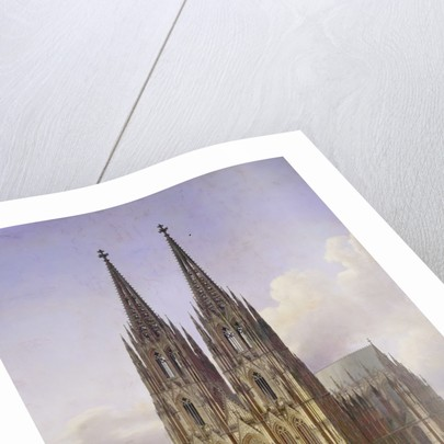 Ideal View of the Cologne Cathedral, 1834-1836 by Carl Georg Hasenpflug