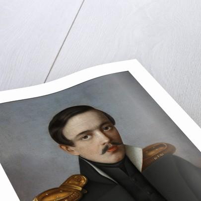 Portrait of the poet Mikhail Lermontov, 1887 by G.F. Krylov