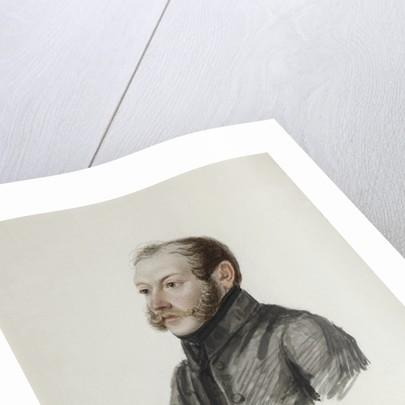 Portrait of Decembrist Nikolai Lorer, 1832-1833 by Nikolai Alexandrovich Bestuzhev