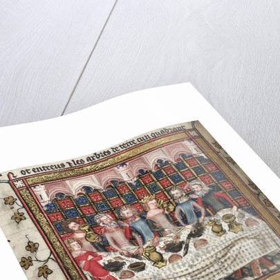 Feasting in Oxford (A cycle of Alexander romances), ca 1400 by Anonymous